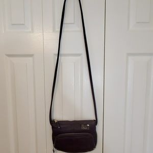 Tignanella Purple Small Crossbody Leather Bag
